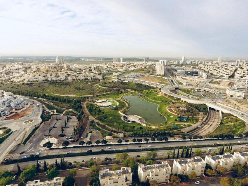 פארק ענבה - תמונה כללית של מודיעין (צילום: יאיר חרמון)