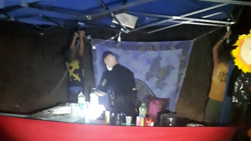 """מסיבת הטבע ביער בן שמן בסופ""""ש (צילום: דוברות המשטרה)"""