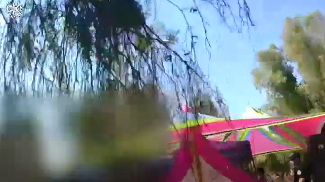 מסיבת טבע ביער בן שמן (צילום: דוברות המשטרה)