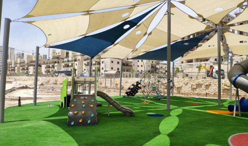 הפארק החדש בנופים (צילום: דוברות עיריית מודיעין מכבים רעות)