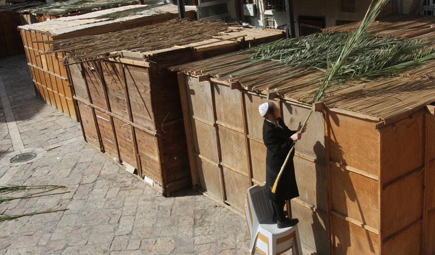 סוכה בירושלים (צילום: גיל כהן מגן)