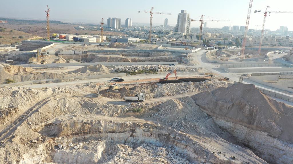 שכונת מורשת מודיעין - עבודות העפר של קבוצת נתיב פיתוח (צילום: נתיב פיתוח)