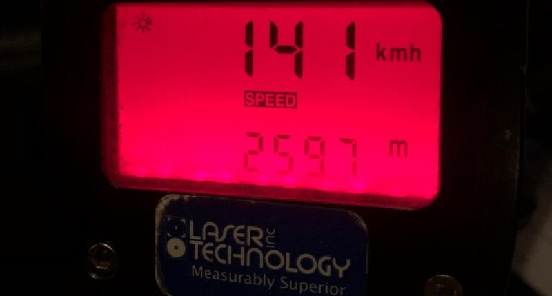 """נתפס נוהג ב-141 קמ""""ש (צילום: דוברות המשטרה)"""